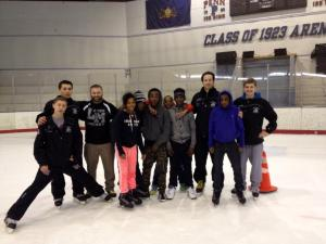 Lower Merion High School Hockey Team with St. Benedict PAL youngsters
