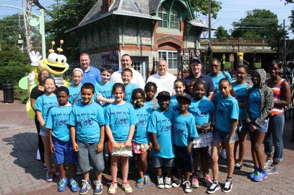 Oxford Circle PAL members with PECO's Michael Innocenzo and PAL Commanding Officer LT. Bill Eddis
