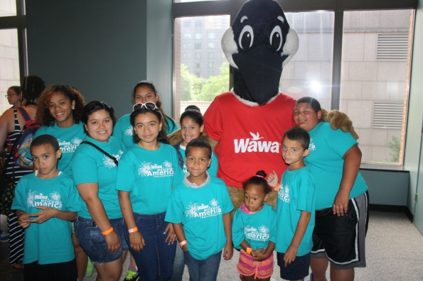 Harrowgate PAL members met Wawa's Wally Goose