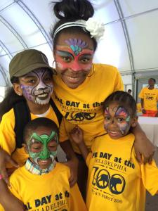 Cozen PAL youngsters took advantage of the face painting activity