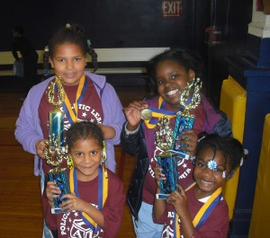 Participants from the Spring Basketball League were excited about their achievements