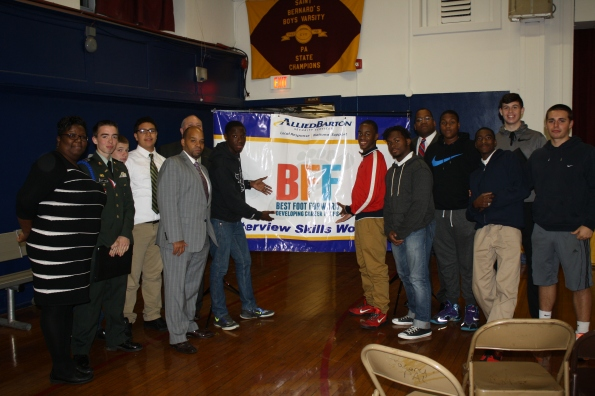 Tacony PAL members with AlliedBarton Executives during Best Foot Forward