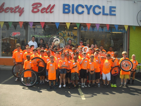 Tacony PAL campers at Liberty Bell Bicycle
